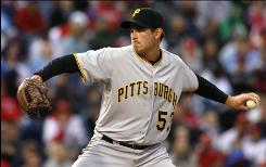 Starter Zach Duke limited the Phillies to one run in six innings, and the Pirates bullpen pitched a shutout in Pittsburgh's 2-1 win.