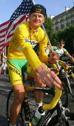 Floyd Landis was happy right after the 2006 Tour de France.
