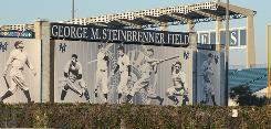 Steinbrenner Field is the Tampa home to George Steinbrenner's Yankees during spring training. A high school and a hospital trauma center in the area also bear his name.