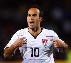 """Landon Donovan of the USA says, """"I'm comfortable now that every time I'm on the field I'm going to perform well."""""""