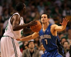 J.J. Redick's clutch scoring and improved defense were assets in the Magic's Game 4 win Monday night in Boston.