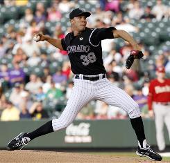 Rockies ace Ubaldo Jimenez tossed eight shutout innings Wednesday night vs. the Diamondbacks in a 7-3 win. Jimenez lowered his major league-leading ERA to 0.88 and won his major league-leading ninth game.