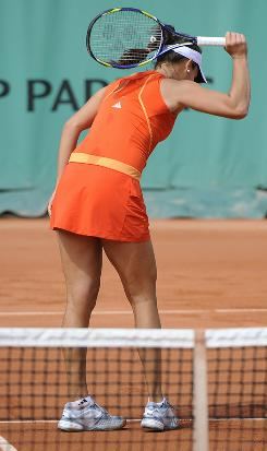The frustration continued for 2008 champion Ana Ivanovic of Serbia, who lost Thursday to Alisa Kleybanova of Russia in the second round of the French Open.