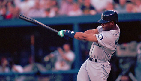 Ken Griffey Jr., drafted No. 1 overall in 1987 by the Seattle Mariners, has 630 career home runs.