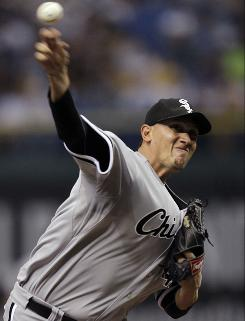 White Sox pitcher Freddy Garcia won for the fourth time in his last five starts.