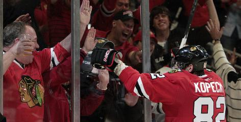 Kopecky No Longer Forgotten Man After Giving Blackhawks Winning Goal