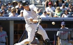 Yankees first baseman Mark Teixeira hit a three-run home run in the seventh inning that keyed a defeat of the Indians.