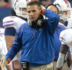 Florida coach Urban Meyer revealed at the SEC spring meeting that his health issues are related to his esophagus