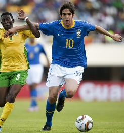 With Ronaldinho not in the Brazilian squad, star midfielder Kaka will be the focal point of the offense in South Africa.