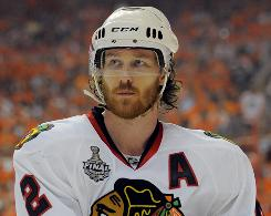 "Blackhawks defenseman Duncan Keith says, ""Most of the time, it's just a bounce"" that can get a power play going."