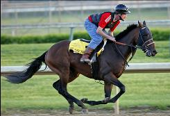 Make Music for Me, taken out for an exercise run at Churchill Downs on April 30, used a late kick to finish fourth in the Kentucky Derby.