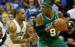 Rajon Rondo, sizing up Orlando's Jameer Nelson in the Eastern Conference finals, has been both catalyst and highlight-maker in the Celtics' postseason run.