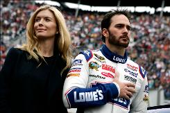 Jimmie Johnson and his wife Chandra are expecting their first child to be born in mid-July.