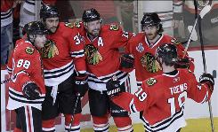 Blackhawks coach Joel Quenneville's move to break up the line consisting of Patrick Kane (88), Dustin Byfuglien (33) and Jonathan Toews proved to be a shewd move in Game 5.
