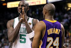 The Celtics' Kevin Garnett scored a team-high 25 points, but couldn't find an answer to prayers against Kobe Bryant and the Lakers.