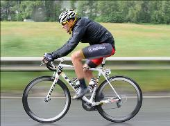 Lance Armstrong rides during the second stage of the Tour de Suisse cycling race on Sunday. He finished 44th.