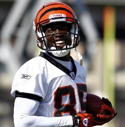 Bengals WR Chad Ochocinco practiced with the team for the first time this offseason on Tuesday.