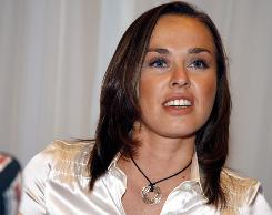 Swiss tennis player Martina Hingis, who will play a full season of World TeamTennis this year, is considering returning to the WTA Tour in doubles.