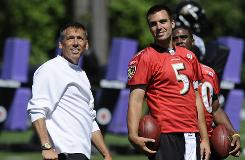 Former Redskins coach Jim Zorn signed on with the Baltimore Ravens to tutor Joe Flacco for the 2010 season.