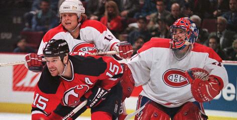 As a player, John MacLean, shown here in a 1997 playoff game, led the New Jersey Devils with 347 regular-season goals.