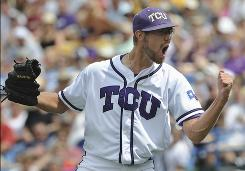 After struggling in the first inning, TCU pitcher Matt Purke settled down in an 8-1 victory Saturday vs. Florida State.