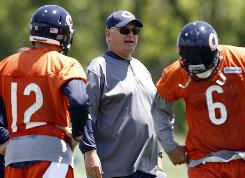 The Bears hired Mike Martz as offensive coordinator to work with QB Jay Cutler in 2010.
