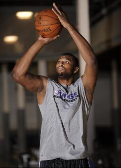 DeMarcus Cousins works out prior to the NBA Draft, during which the former Kentucky forward is expected to be a top five pick.