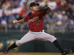 Astros' Roy Oswalt has averaged 15 victories, a 3.23 ERA and 30 starts a season from 2001 to 2009.