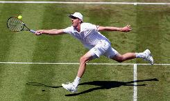 Sam Querrey of the USA says he is feeling confident as he prepares for his second-round match Thursday at Wimbledon. The rising American star has three titles so far in 2010.