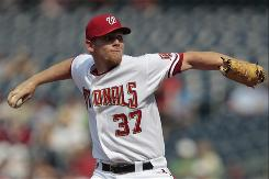 Nationals rookie Stephen Strasburg struck out nine Royals in his fourth major league appearance, breaking a 55-year-old record, but lost 1-0.