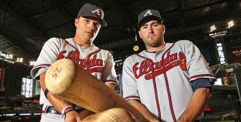 Martin Prado, left, and Troy Glaus have been pleasant surprises for the Atlanta Braves.