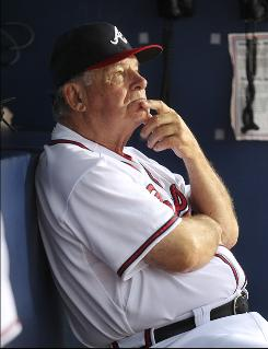 Manager Bobby Cox cried in spring training when his wife threw a retirement party for him, his coaches say. The Braves have scheduled a retirement bash Oct. 2, the day of their next-to-last scheduled game.
