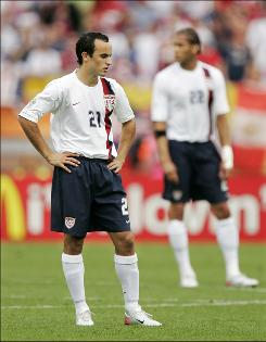 Landon Donovan and the United States lost to Ghana 2-1 during the group stages of the 2006 World Cup.