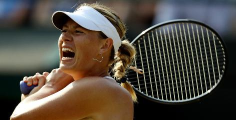 Maria Sharapova of Russia, the 2004 Wimbledon champion, has a difficult roadblock in the fourth round Monday: Three-time champ Serena Williams.