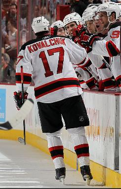 New Jersey Devils wing Ilya Kovalchuk re-signed with the New Jersey Devils on July 19.