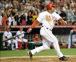 Bobby Abreu had one hit in four at-bats, but it was a big one. The Angels' right fielder hit a tie-breaking, three-run double in the sixth inning to lead Los Angeles to a 6-5 win over the Texas Rangers.