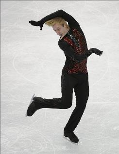 The International Skating Union ruled Evgeni Plushenko, performing his free-skate program at the 2010 Vancouver Olympics on Feb. 18, ineligible for future Olympic, Grand Prix and world championship competition.