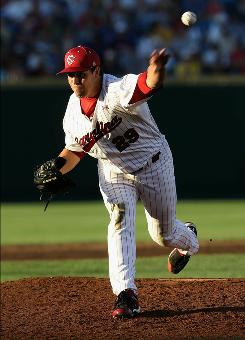 Michael Roth and the South Carolina pitching staff lowered their ERA to 2.15 after the College World Series, frustrating opposing batters with a .191 average.