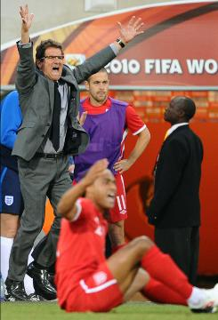 Fabio Capello got England to the knockout stage of the World Cup, and the team was promptly KO'd by Germany.