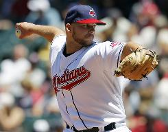 Indians starter Justin Masterson allowed one run in 8 1/3 innings