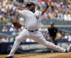 Yankees starter CC Sabathia won his 10th game thanks to a two-run homer from Alex Rodriguez in the eighth inning.