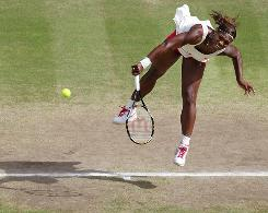 Serena Williams of the USA has been dominant on her serve on her way to the Wimbledon final, unleashing a tournament record 80 aces.