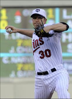 Twins starter struck out eight and allowed one run in seven innings to outduel Rays ace David Price in Minnesota's 2-1 win.