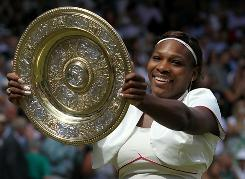 Serena Williams continues to climb the Grand Slam ladder with her fourth Wimbledon title and 13th major championship overall.