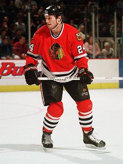 Bob Probert played for the Detroit Red Wings and Chicago Blackhawks during his 16 seasons in the NHL.