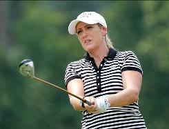 """I feel like I've worked for this my whole life, and now it's coming true,"" said Cristie Kerr, hitting a shot during a practice round. ""Now it's time to keep doing the things that got me there."""