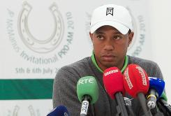 Tiger Woods met with reporters in Ireland on Tuesday.