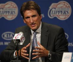 Vinny Del Negro takes questions from the media after being introduced as the new head coach of the Los Angeles Clippers.