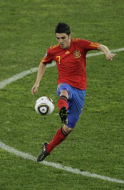 Striker David Villa leads Spain into the World Cup final looking for the country's first-ever title.