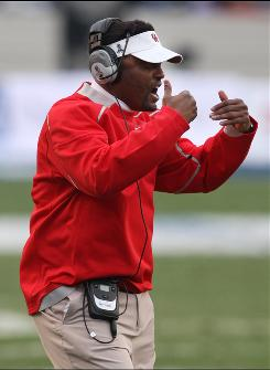 Houston head coach Kevin Sumlin coaches against Air Force during the Armed Forces Bowl last December.  Sumlin who has been an assistant in the Pac-10, Big 10 and Big 12 led the Cougars to back-to-back bowl appearances in his first two years at the helm.